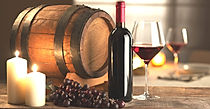 Barrel_Grapes_Candles_Wine_Bottle_537774