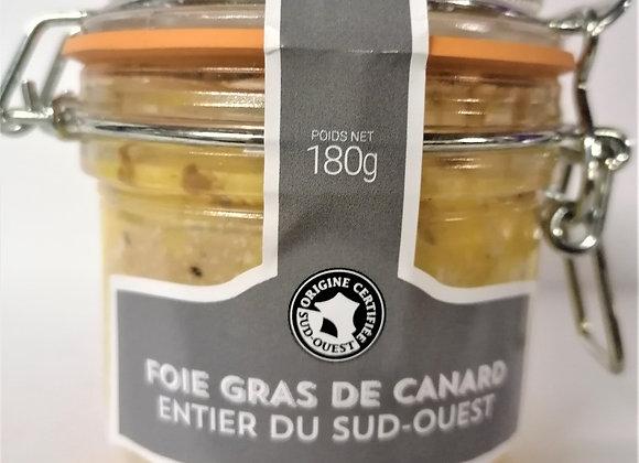 Foie gras entier de canard 180 Gr