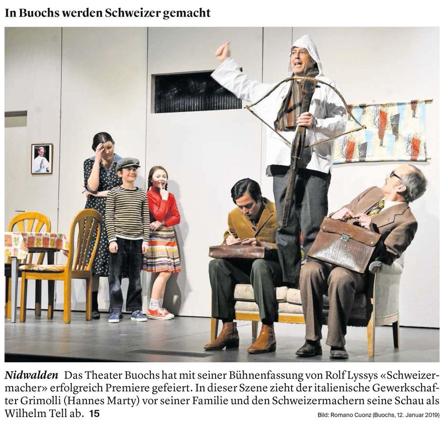 Foto Titelblatt Nidwaldner Zeitung