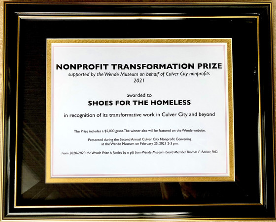 Non-Profit Transformation Prize Awarded to Shoes for the Homeless, Inc.!