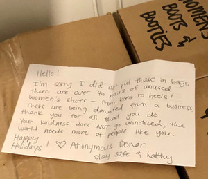 Anonymous Donor and a Beautiful Note!