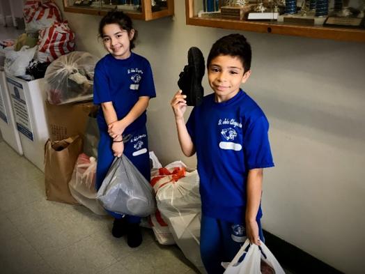 St. John Chrysostom School Holds Shoe Drive to help the homeless!
