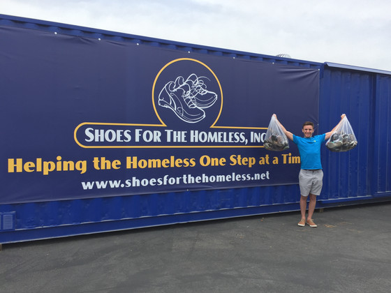 Student collects over 300 pairs of shoes at his school!