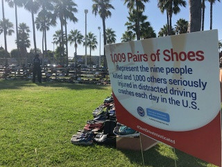 AAA partners with Shoes for the Homeless, Inc. to help the homeless receive new shoes at the 2019 AA
