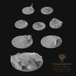 STL Scenic Miniature Bases