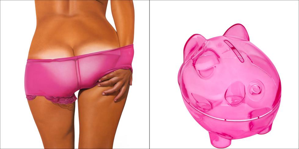Pink Transparent Bikini Bank