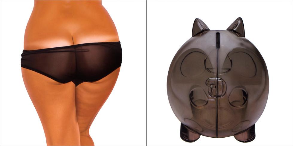 Black Transparent Bikini Bank