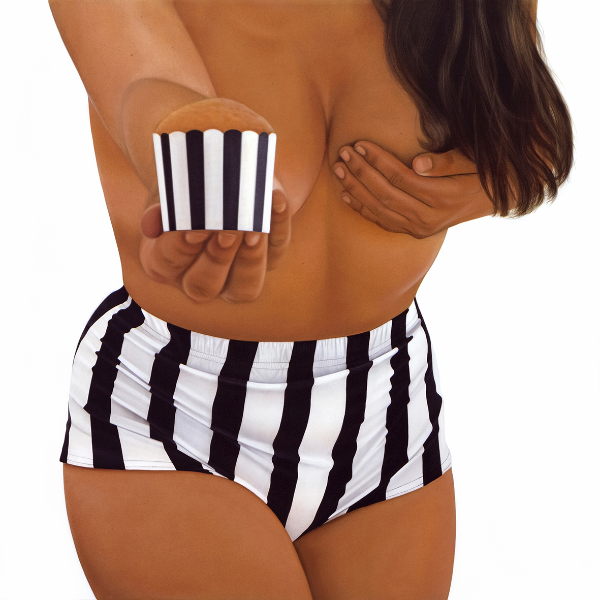BIKINI CAKE BLACK STRIPES