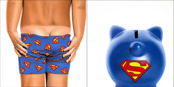 SUPERMAN BABY BIKINI - BANK