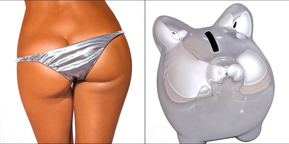Silver II Bikini Bank