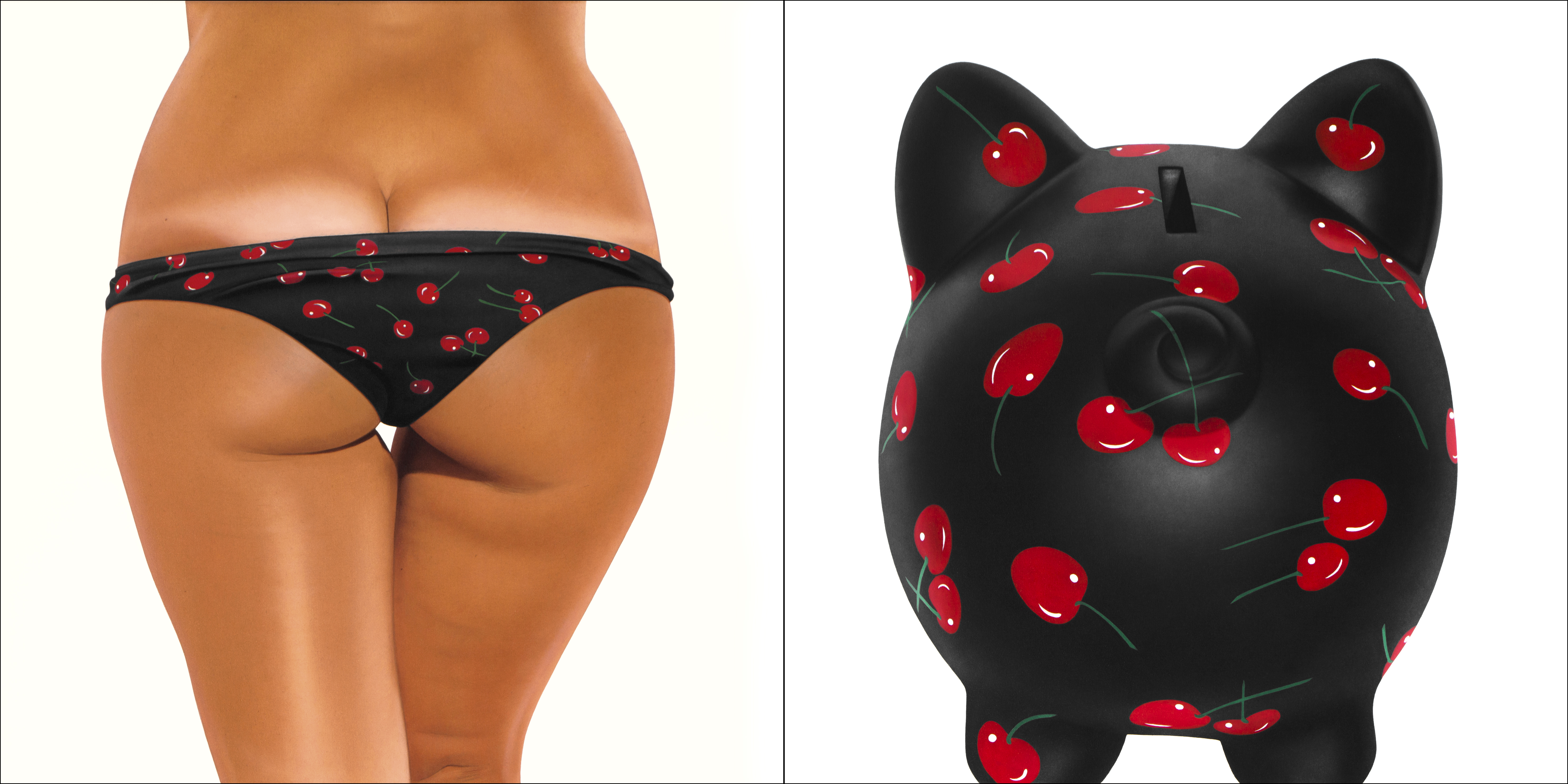 CHERRY BLACK BIKINI - BANK