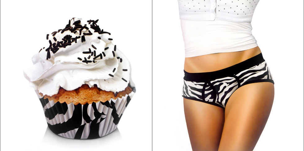 Zebra and Topping Cupcake