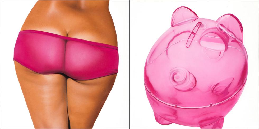 Pink Transparent II Bikini Bank