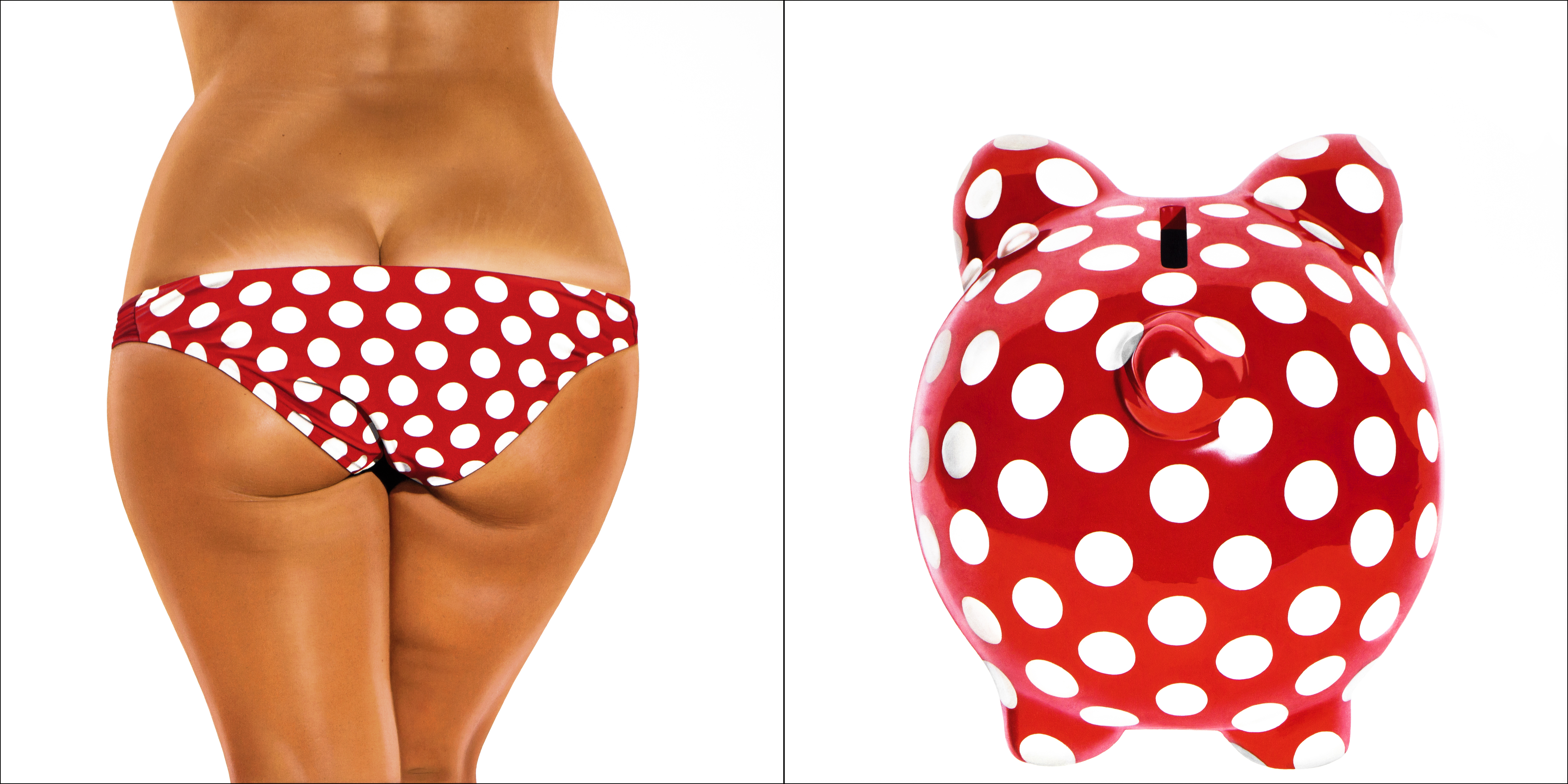 RED AND WHITE DOTS BIKINI - BANK