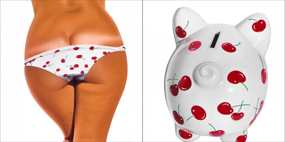 Cherry White Bikini Bank
