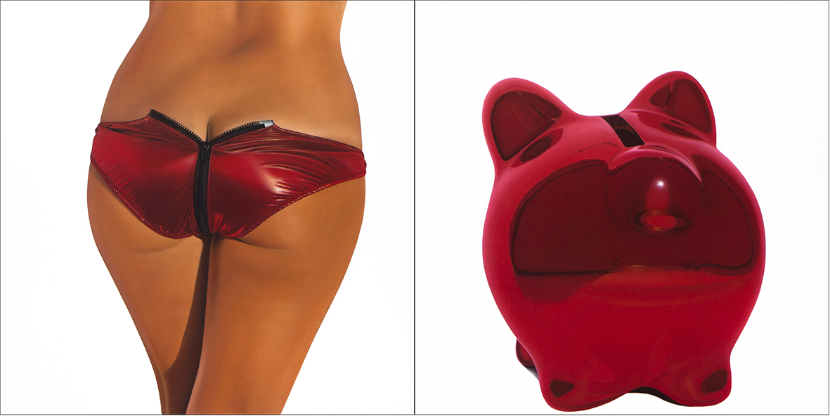 RED METALLIC BIKINI - BANK