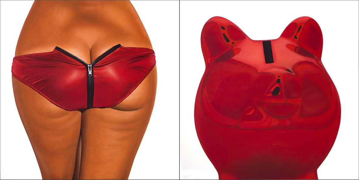 RED METALLIC II BIKINI - BANK