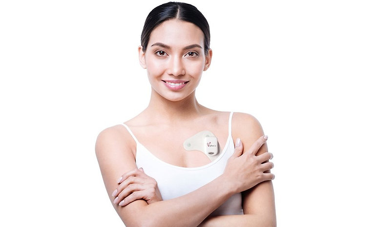 Woman wearing 24 hour holter monitor.jpg