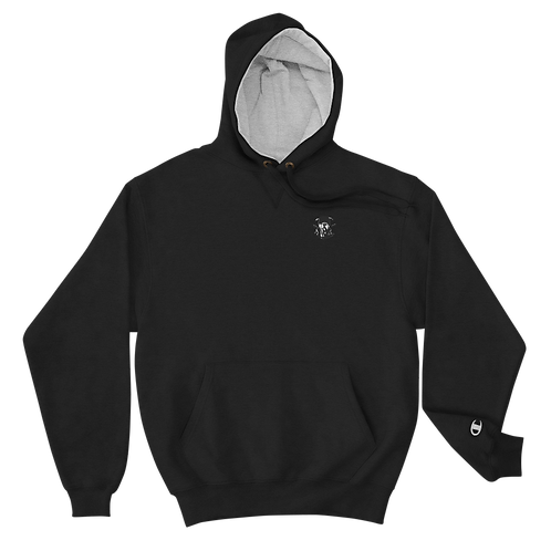 Graphwize Crystal Ball Black & White Embroidered Champion Hoodie