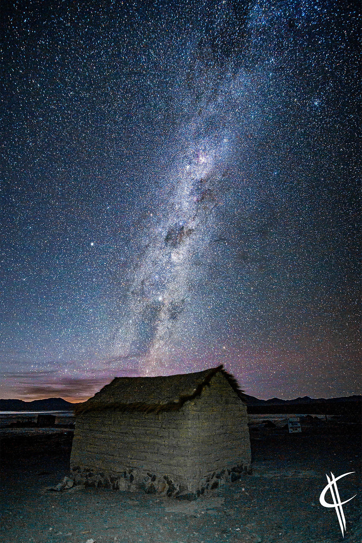 One cold night, Laguna Colorada