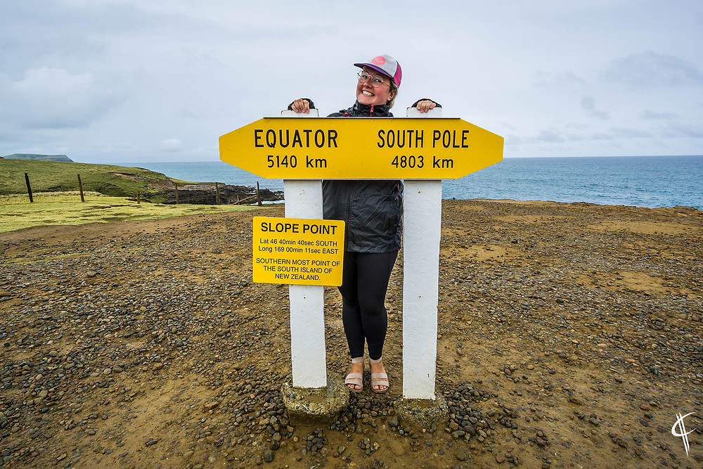 Slope Point, most southern point of the South Island