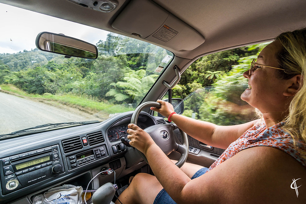 Caro happy driving