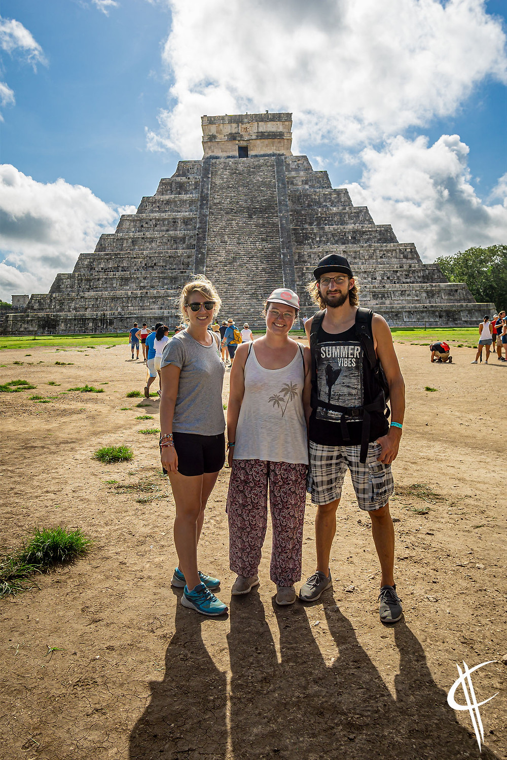 with Sophie, Chichén Itzá