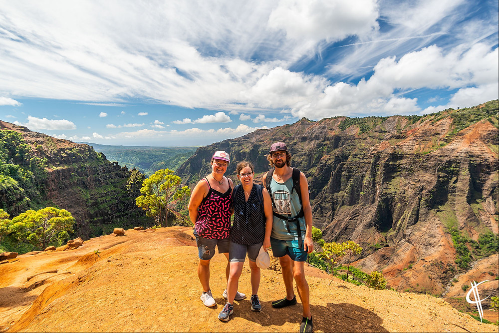 Trio at Waimea Canyon