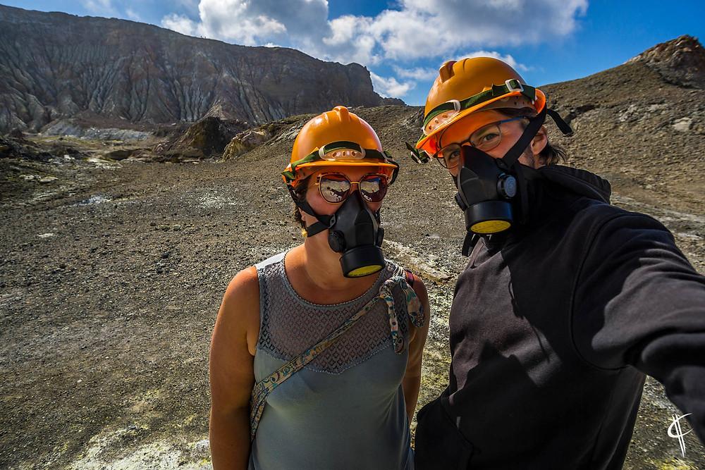 Selfie in a volcano