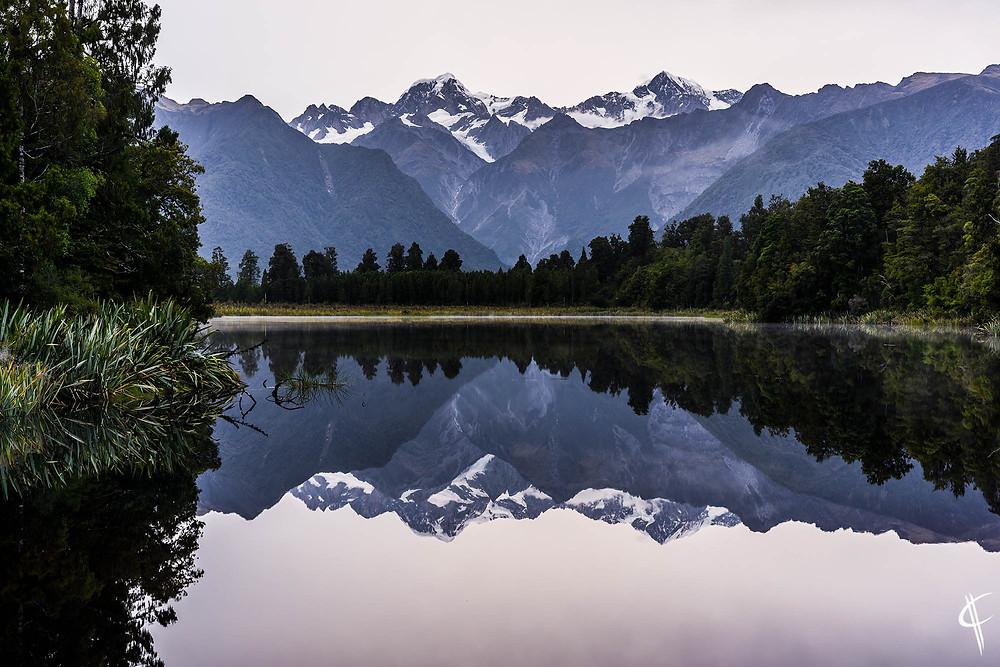 Lake Matheson with Mount Cook & Mount Tasman