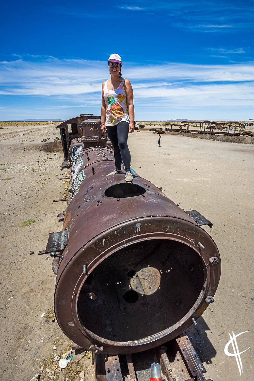Caro on a Trainwreck, Salar de Uyuni
