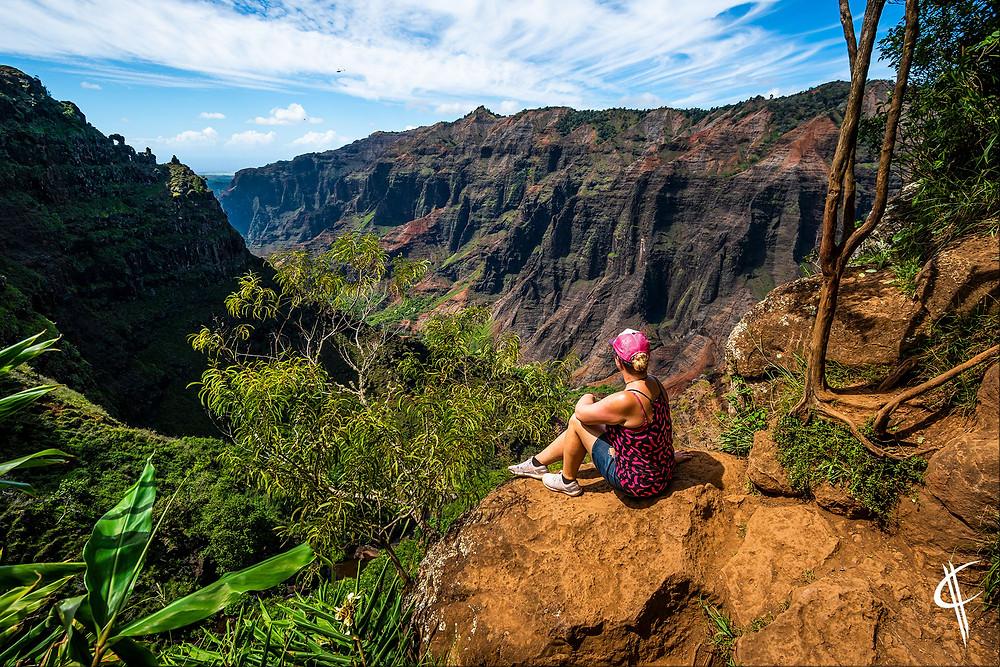 Caro enjoys the Waimea Canyon