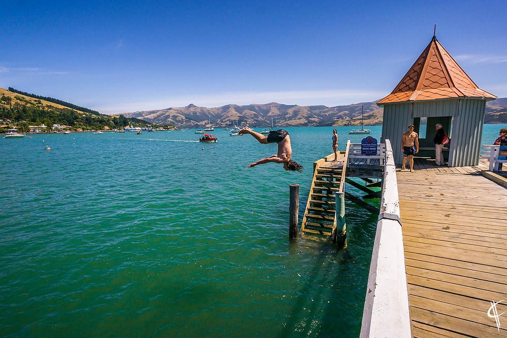Jump in Akaroa