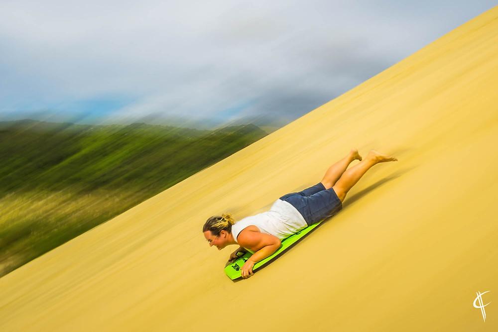 Sandboarding, Te Paki Sanddunes