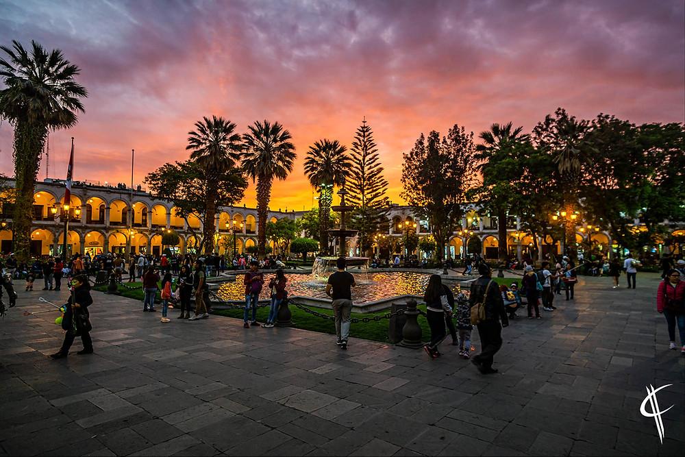 Sunset, Arequipa
