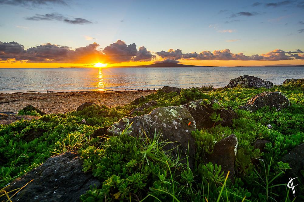 Sunrise over Rangitoto