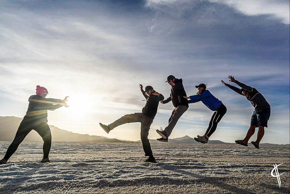 Trick shots, Salar de Uyuni
