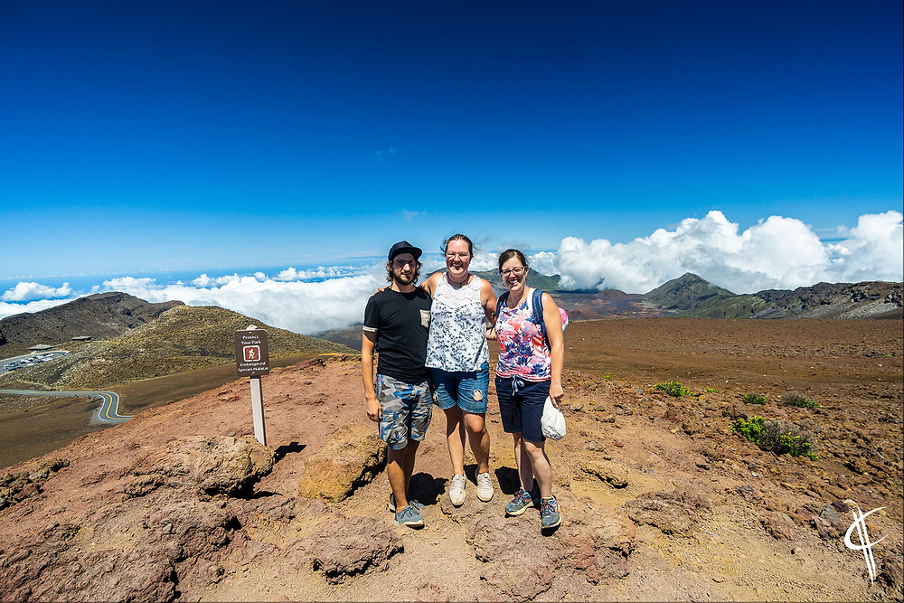 Trio at Haleakala