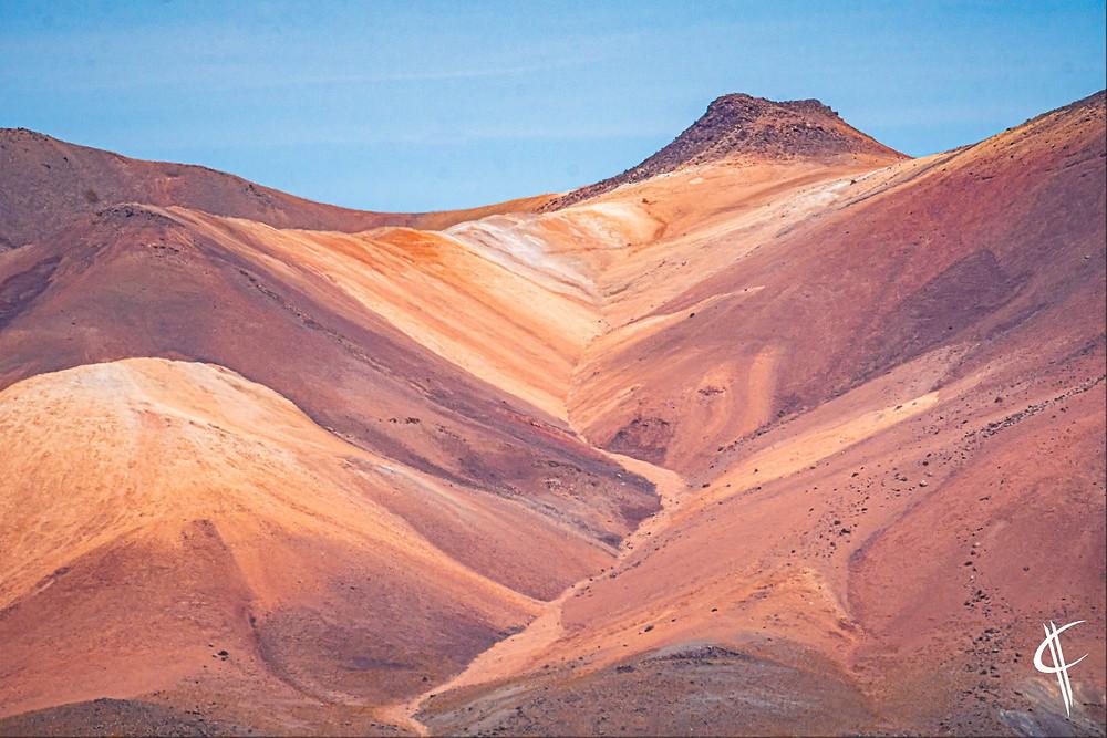 Colourful mountains, Salar de Uyuni
