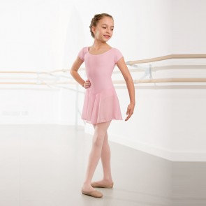 1st Position voile skirted capsleeved Leotard Pink