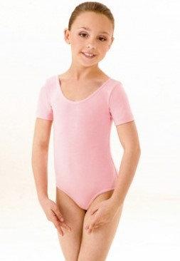 1st Position short sleeved Leotard-Pink
