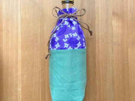 ボトルカバーが完成! Water bottle cavar made by tenugui cloth!