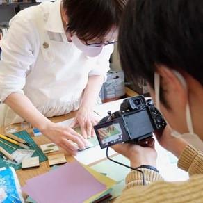 松林動画店さんに、ワークショップ風景を撮影していただきました!Making Promotion movie of pattern stamp workshop!
