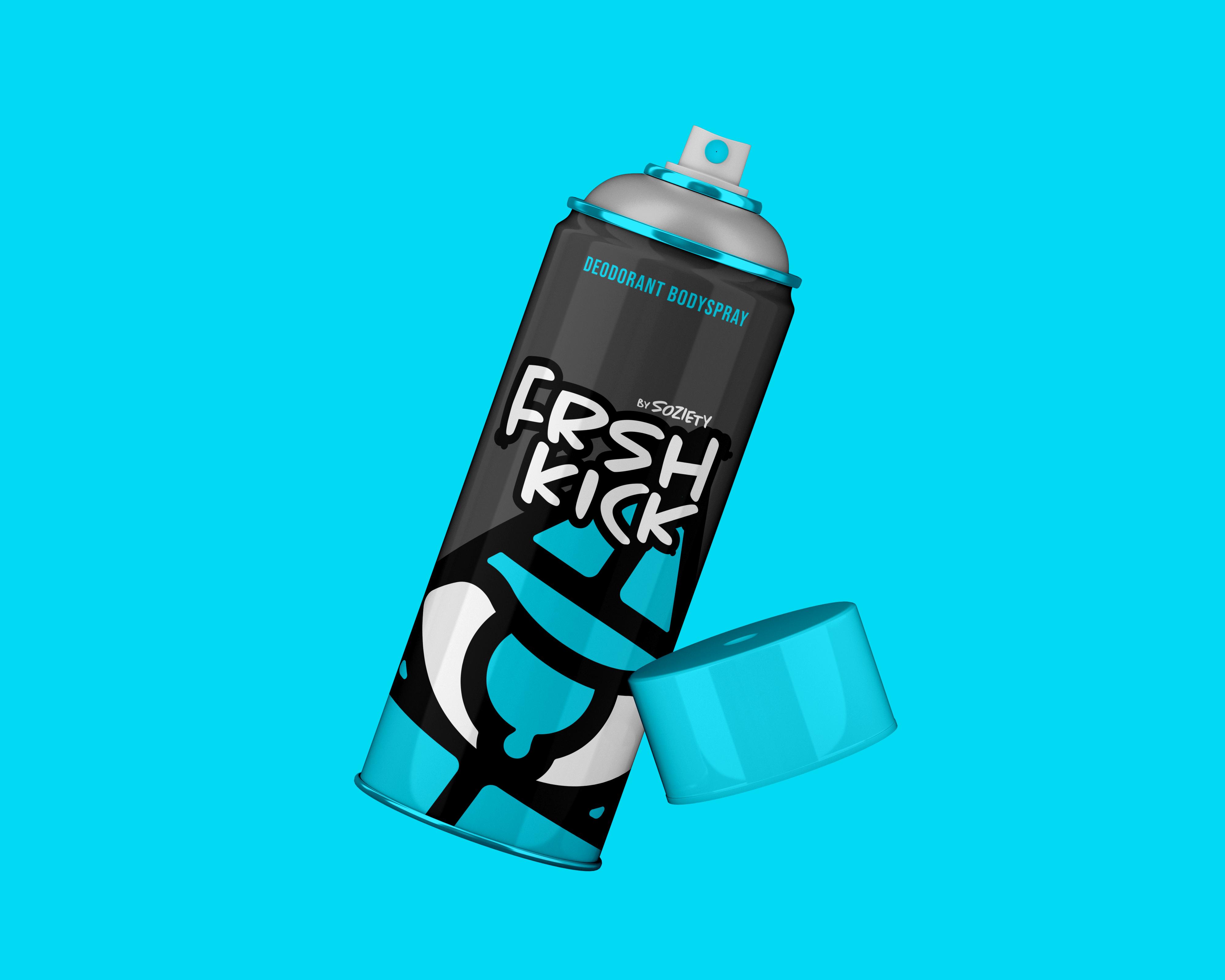 SOZIETY FRSHKICK Spray Mockup