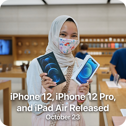 iPhone 12, iPhone 12 Pro, and iPad Air R
