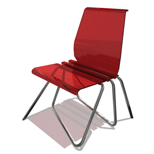 Krzesło na jednej nodze.