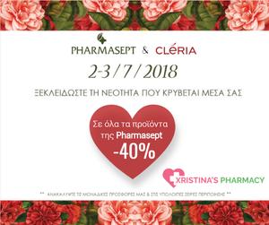 Pharmasept & Cleria Event -40%