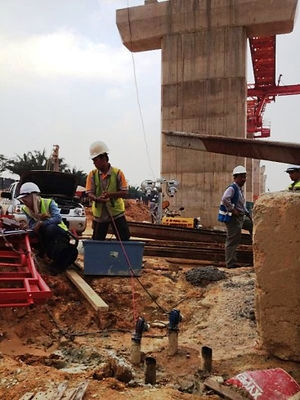 Crosshole sonic logging CSL