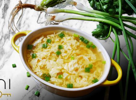 low carb : egg drop soup