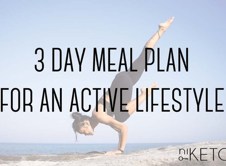 3 day meal plan for the physically active dieter
